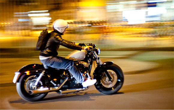 motion blur milan motorcycle at night
