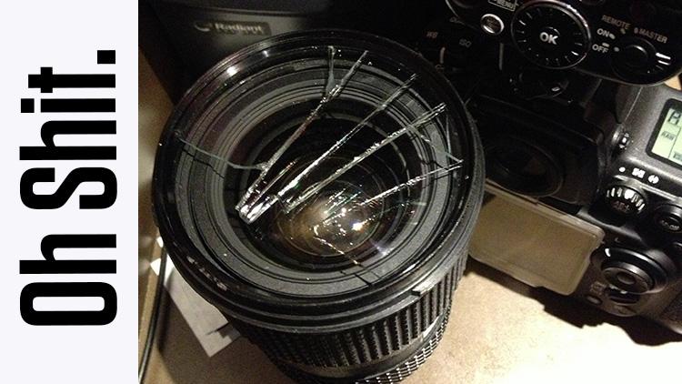 broken uv filter on tokina lens