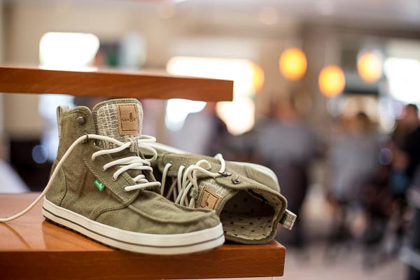 Sanuk shoes blurred background