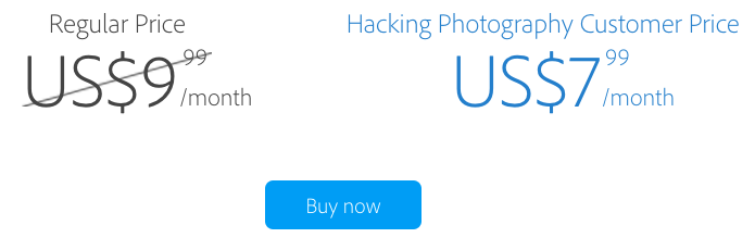 creative cloud, creative cloud discount, adobe creative cloud, hacking photography